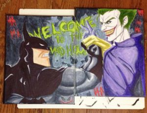 Batman vs Joker 8x11 Canvas for Sale in Falls Church, VA
