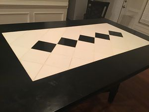 Black and White Tile Design Wood Dining Table for Sale in Lawrenceville, GA