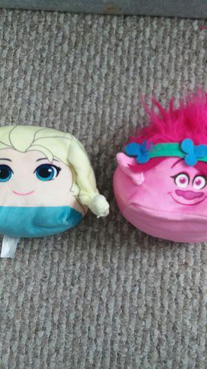 Poppy trolls frozen elsa ball plush pillow for Sale in Germantown, MD