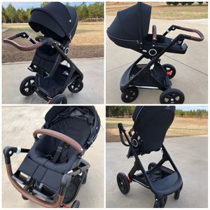 Stokke Trailz - All Terrain stroller with brown leather handles! Excellent condition! for Sale in Inman, SC