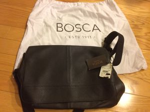 New Bosca leather messenger bag, black for Sale in Washington, DC
