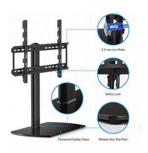 FITUEYES Universal TV Stand with Mount for 32 to 65 inch Samsung Vizio LG TV TT107001GBD, 2B-2134 for Sale in St. Louis, MO