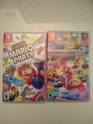 Mario party and Mario Kart 8 cases only $4.99 each for Sale in Sacramento, CA