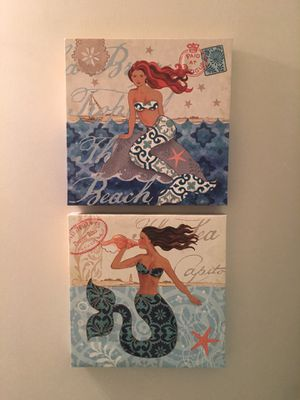 2x2 Canvas Mermaid Artwork for Sale in Rockville, MD