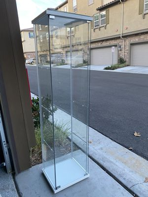 Glass Shelve storage cabinet for Sale in Chino Hills, CA