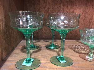 Antique, Vintage, Vaseline Glass, stemware, glows under black light, Uranium, Collectible Glassware, Glasses for Sale in Duncanville, TX