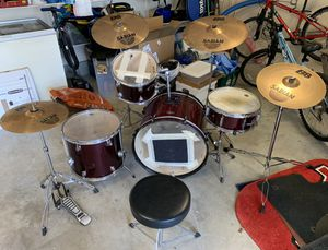 $250 · Drum Set - 3 D2 drums, 1 SP bass. Sabian Symbols. for Sale in Norcross, GA
