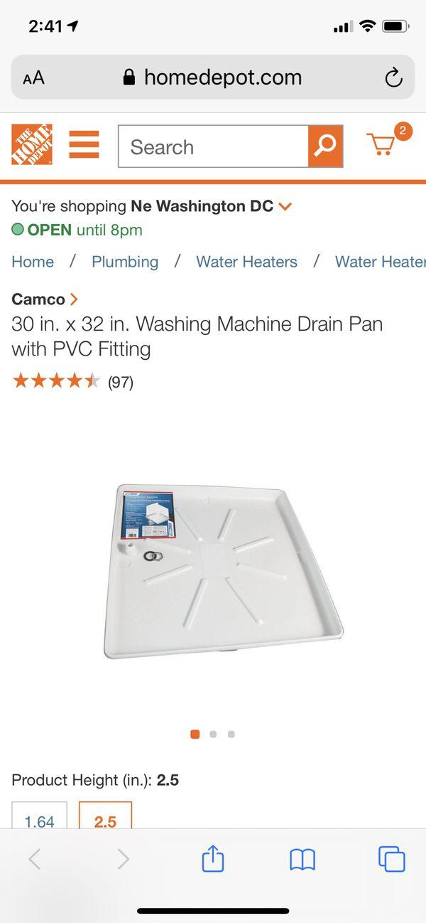 Brand new FREE Camco Washing Machine Drain Pan