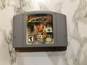 Rare Nintendo 64 N64 Game Indiana Jones and the Infernal Machine for Sale in Corona, CA
