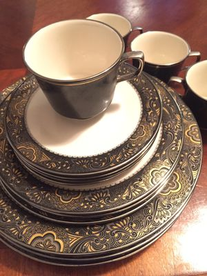 Beautiful Vintage Franciscan Masterpiece China..Nouvelle Ebony for Sale in San Antonio, TX