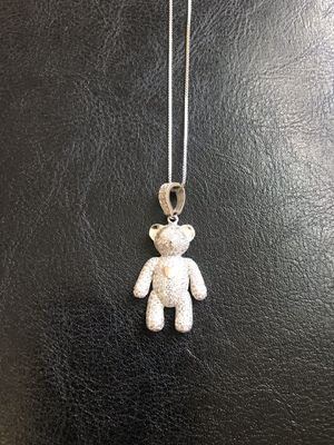 925 sterling silver Bear 💗💗 pendant with chain for Sale in Philadelphia, PA