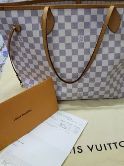 Heandbag Louis-vuitton Damier Azur 100% Authentic for Sale in Burlington,  MA