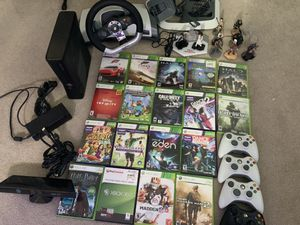 Xbox 360 LOT with Games, 4 Controllers, Racing Wheel, Disney Infinity, and Kinect. WILL ACCEPT OFFERS! for Sale in Issaquah, WA