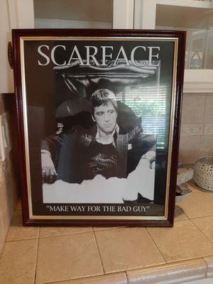 Scarface pic in nice frame for Sale in Fresno, CA