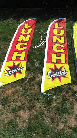 4 GREAT ADERVERTISING FLAGS AND ARMS for Sale in Parma Heights, OH