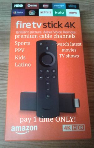 Amazon Fire Tv stick 4k resolution for Sale in San Antonio, TX