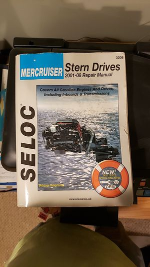 Seloc repair manual for mercruiser stern drive 2001-2008 for Sale in Hewlett, NY