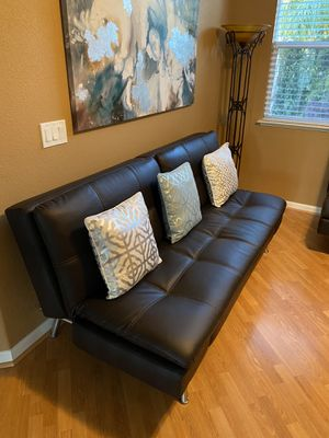 Leather Futon (Sofa Bed) for Sale in Manteca, CA