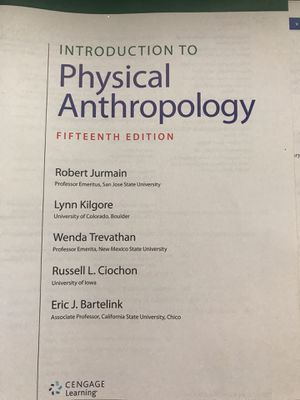 introduction to physical anthropology 15th edition