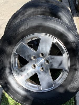 Jeep rims and tires $150 or trades for Sale in Monrovia, CA
