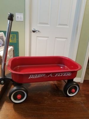 Mini Radio Flyer Red Wagon 12x7.5 Really cute great for playing with Dolls or Stuffed Animals for Sale in Hesperia, CA