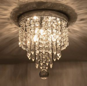 Mini Chandelier Flush Mount Crystal Ceiling Light Fixture Modern for Bedroom Hallway Contemporary for Sale in Toledo, OH