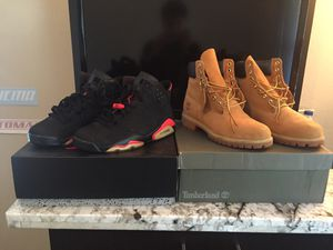 Jordan infrared 6s timberland boots for Sale in Deer Park, TX
