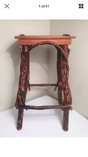Handmade Live Wood Stool Custom Made Artist Drafting Bar Art Deco for Sale in Stamford, CT