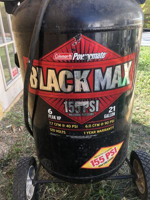 Black man compressor 155 PSI for Sale in Tampa, FL