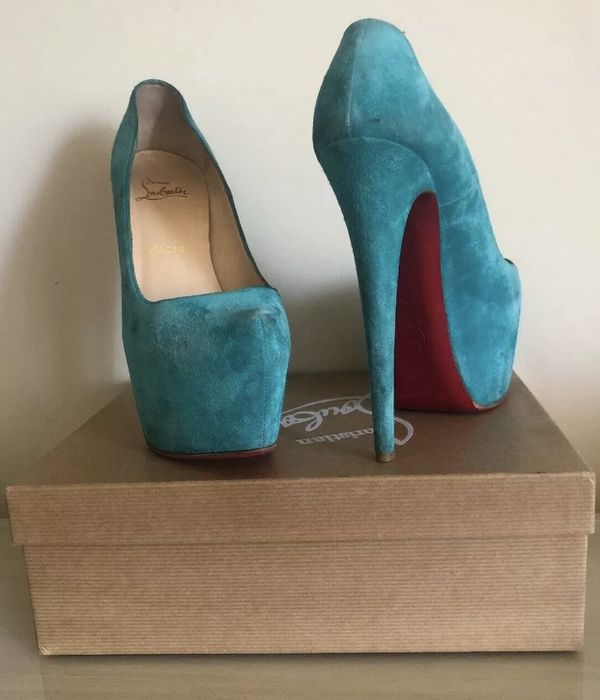Christian Louboutin's Suede High heels