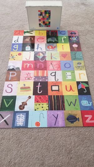 Pottery barn kids ABC puzzle for Sale in Dublin, OH