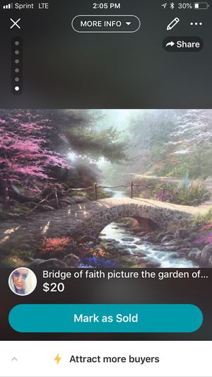 """Bridge of faith"" the garden of promise III! by:Thomas kinkade for Sale in Kingsport, TN"