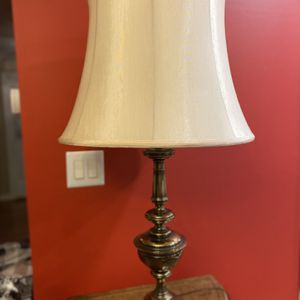 Set Of Two Brass Tone Table Lamps With Shades for Sale in Manassas, VA