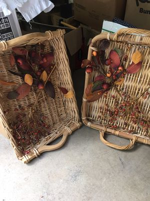 Set of large decorative baskets for Sale in Cumming, GA