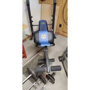 Workout Bench with Weights for Sale in Bloomington, CA