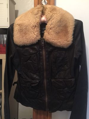 American Eagle Women's brown distressed leather jacket for Sale in San Diego, CA