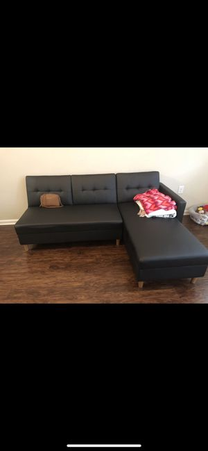 Leather Futon w/ Storage for Sale in Jacksonville, NC