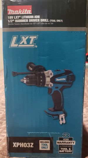 Makita 18-Volt LXT Lithium-Ion 1/2 in. Cordless Hammer Driver/Drill (Tool-Only) for Sale in Upland, CA