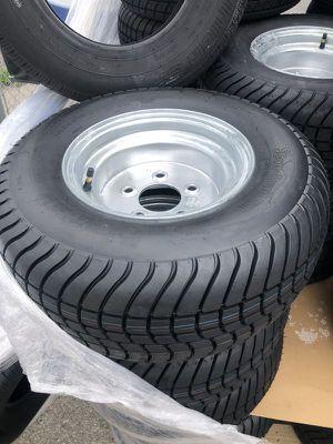 "Pontoon Trailer tires on sale!!! New date codes, warranty - 10"" E-range pontoon trailer tires - 10"" 5 lug trailer tires - pontoon trailer tires for Sale in Plant City, FL"
