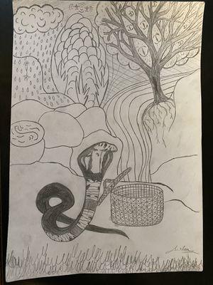 Cobra Sketch - Original Artwork for Sale in Ithaca, NY