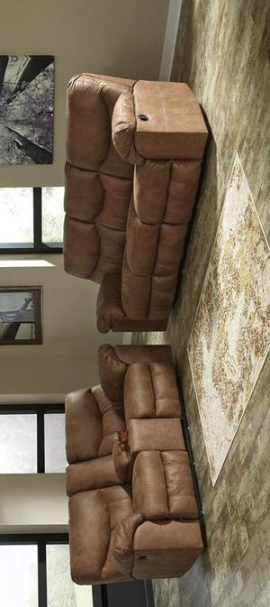 Boxberg bark reclining sofa and loveseat for Sale in Houston, TX