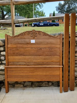Antique high back standardsize bed for Sale in Salem, VA