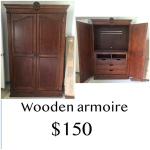 Wooden armoire for Sale in Cape Coral, FL