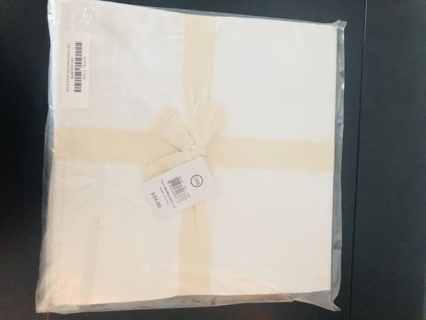 Hannah Anderson Crib Sheet White - New with Tag