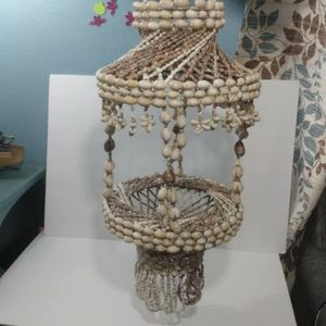 "Sea Shell Macrame Hanging Plant Holder Planter Vintage 27"" Boho Tiered Nautical for Sale in San Bernardino, CA"