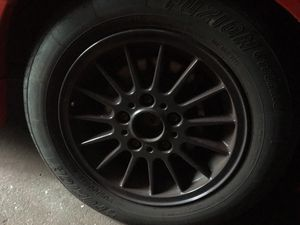 E36 rims set for four with tires, tires are 70% tread. rims strong, perfect no cracks nothing, for Sale for sale  The Bronx, NY