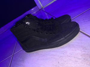 Selling Unused Black Hightop Vans (size 7.5) $35 for Sale in Opa-locka, FL
