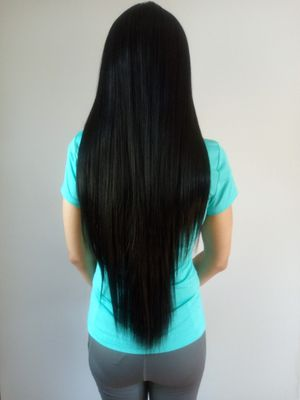 SYNTHETIC HAIR SWISS LACE FRONT WIG 32 INCH BRAND NEW/ PELUCA COLOR NEGRO NUEVA for Sale in Fullerton, CA