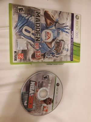 XBox 360 Games NBA 2K9 and NFL 13 (Free) for Sale in Lawrenceville, GA