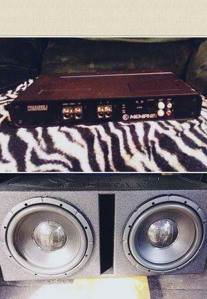 memphis 12s and amp plus Q Bomb Pro box for Sale in Pineville, LA